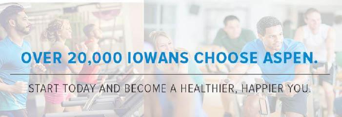 Aspen Athletic Club in Iowa Cities banner