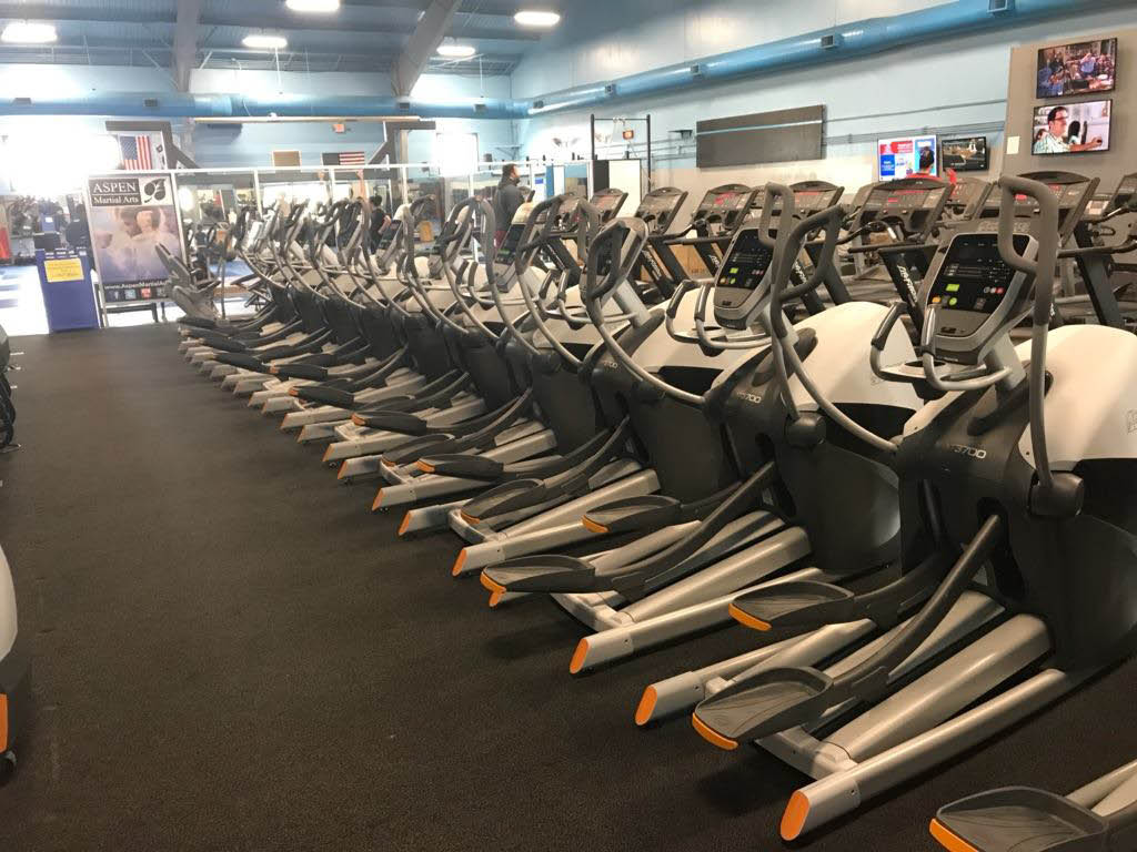 State-of-the-art athletic equipment at Aspen Athletic Club, Des Moines