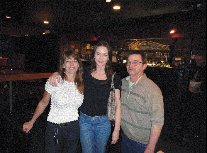 Emily Blunt stopped by to see a show at the Ann Arbor Comedy Showcase