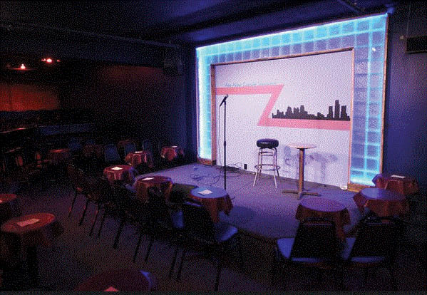 Picture of the inside of the state at the Ann Arbor Comedy Showcase