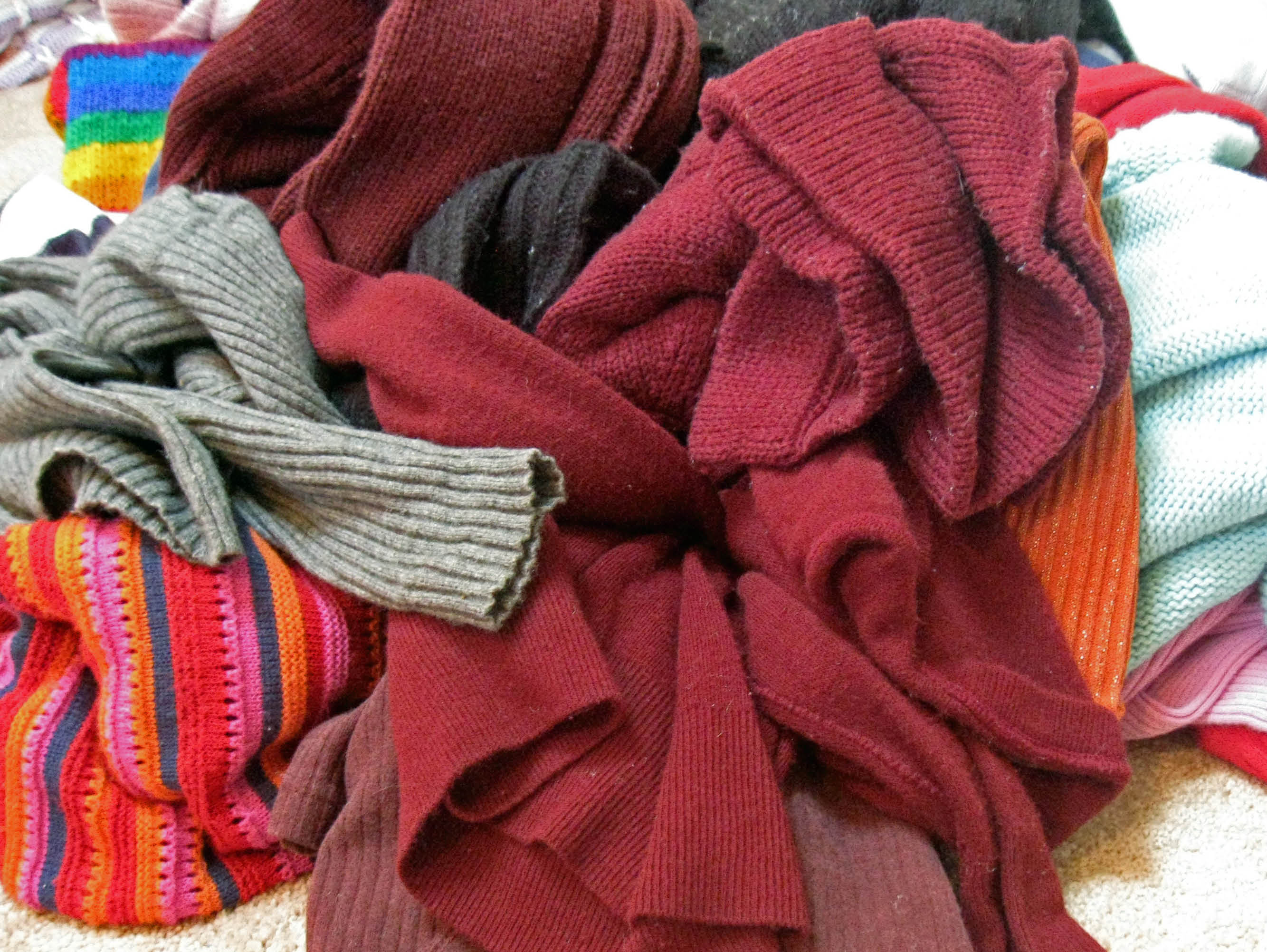 sweaters, dry cleaning