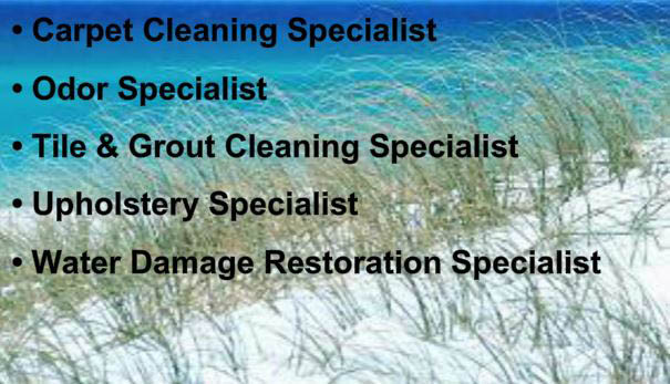 Carpet cleaner and carpet shampooer in Destin and Gulf Shores