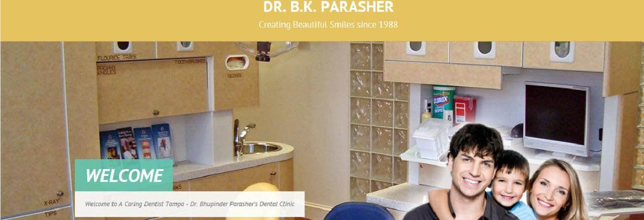 A Caring Dentist, Tampa Banner