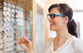 Certified optometrists will help find the correct prescription and fit