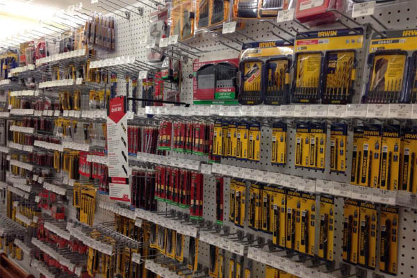 Ace Hardware tools and fasteners.