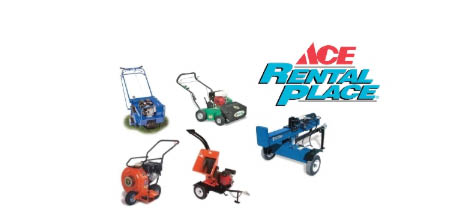 Ace Hardware store in mt. airy md offers rentals for a variety of equipment.