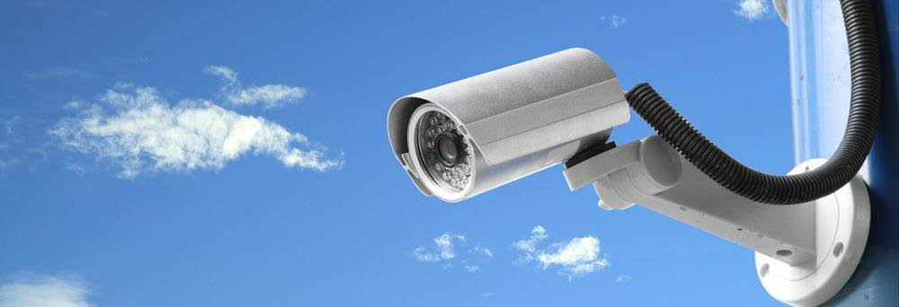 Surveillance camera in use