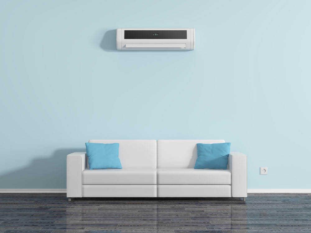 Fujitsu IAQ ductless wall mounted air conditioning