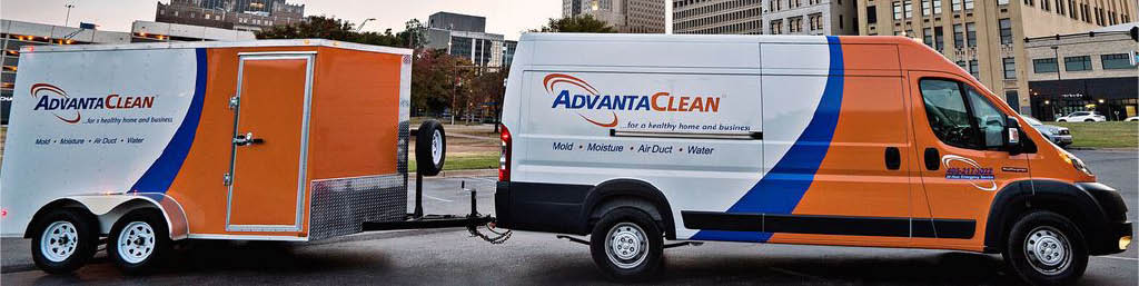 AdvantaClean fully-equipped work trucks in DuBois-Punxatawney, PA