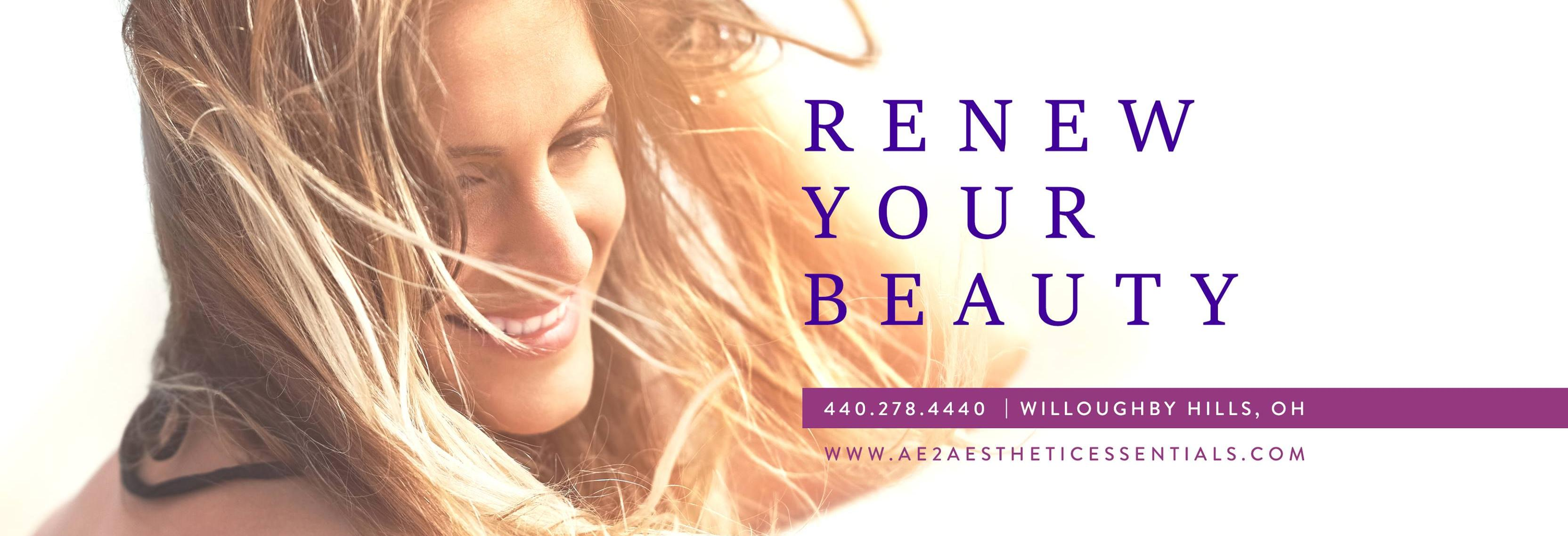 Ae2 Aesthetic Essentials banner Willoughby, OH