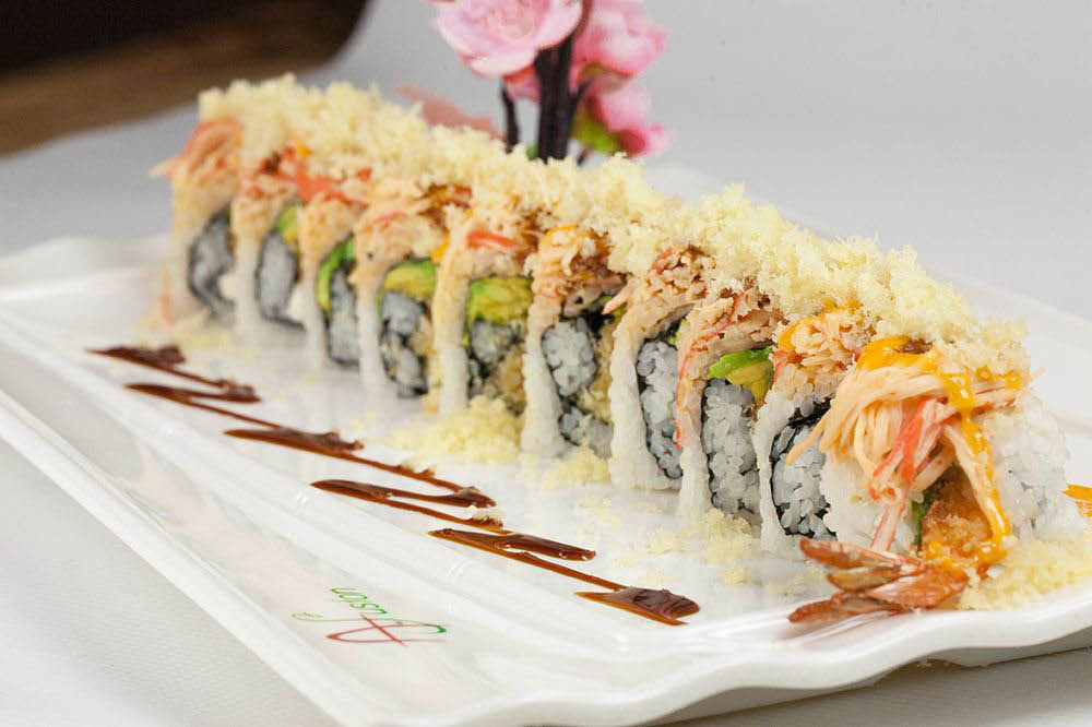 Delicious sushi and may varieties available at A. Fusion.