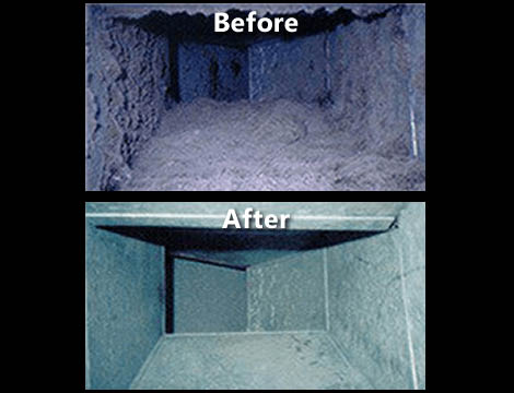 Specialized Cleaning Services, Southeast WI Madison air duct clean before and after