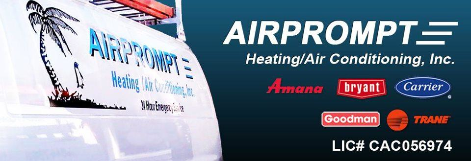 Airprompt Heating & Air Conditioning Inc logo banner