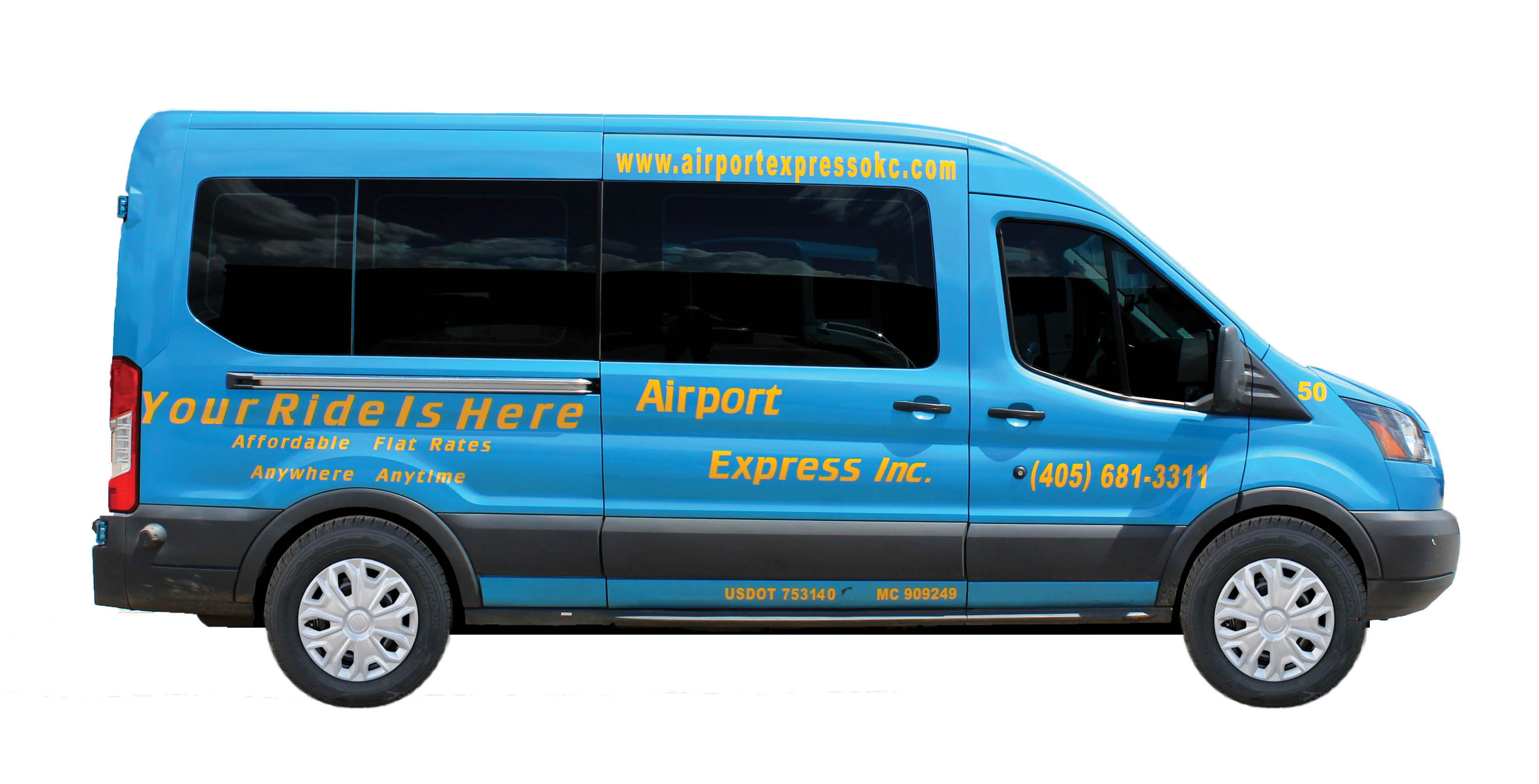Airport Express transportation vehicles/vans