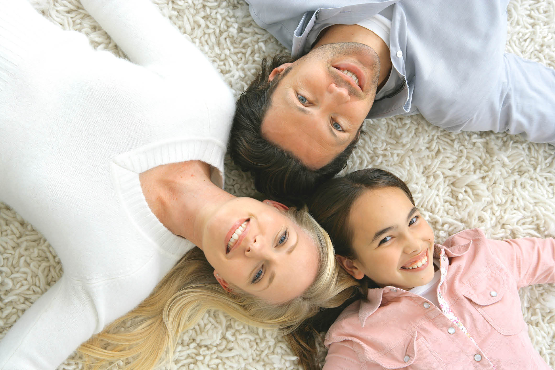 Happy family enjoying clean indoor air