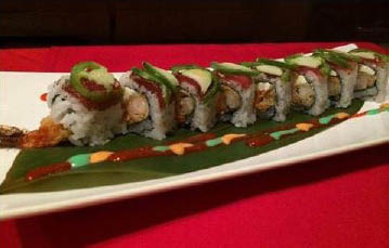 Made fresh sushi rolls.