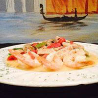 shrimp dish at albas italian in fort worth texas