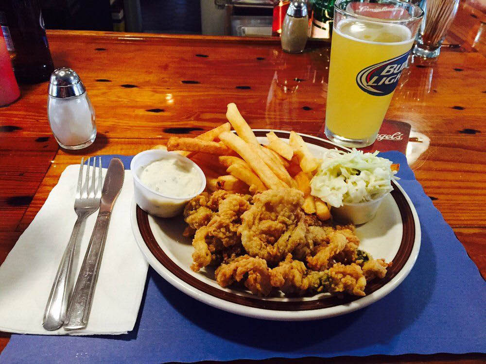 Anchor Ale House fried seafood platter is a favorite among the locals.