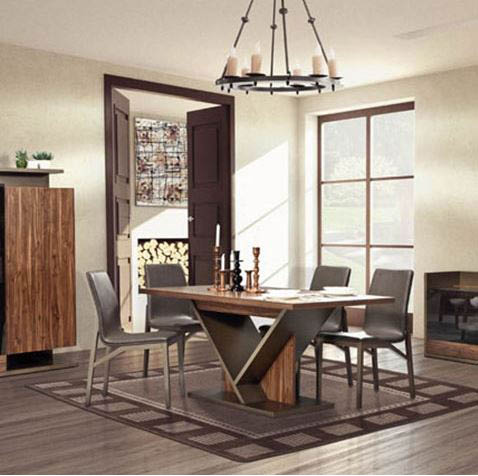 Designer dining rooms with wooden tables