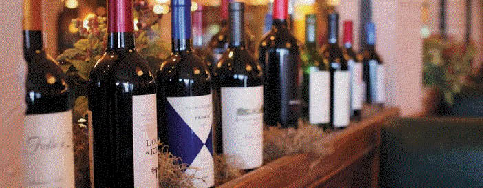 Variety of wines at Alfoccino in Farmington Hills