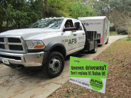 Alpha Foundations trucks - specialists in foundation services in North Florida