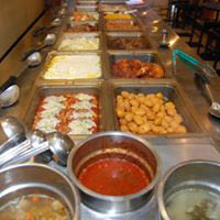 dinner buffet at Al's Pizza & Pub
