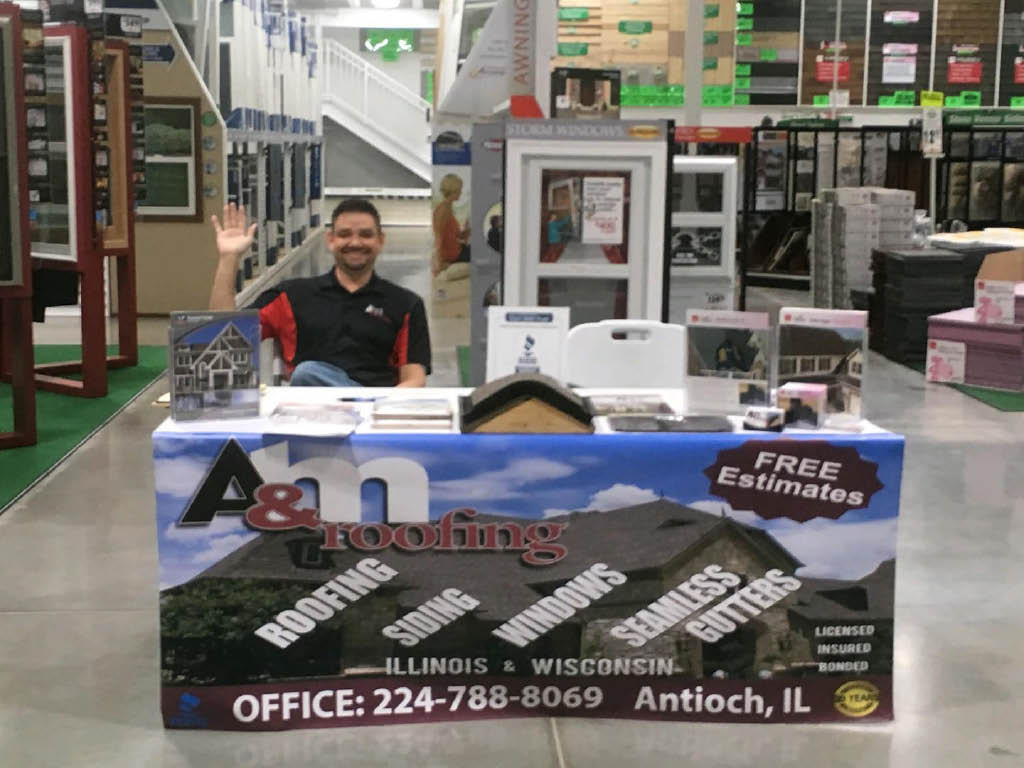 A and M Roofing trade show experts