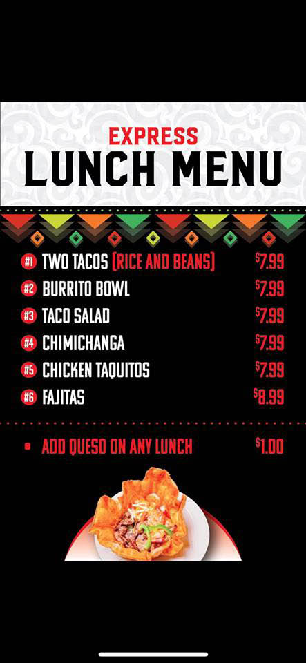 lunch menu; fast lunches; cheap lunches in Ankeny; Des Moines, IA