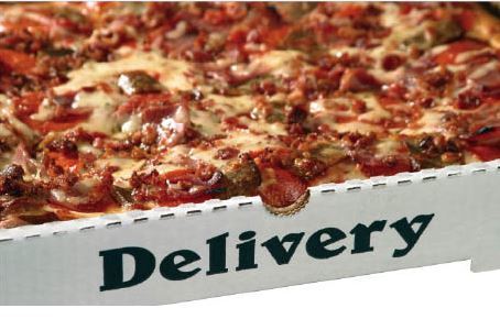 Meatlovers square pizza near Littlerock, CA