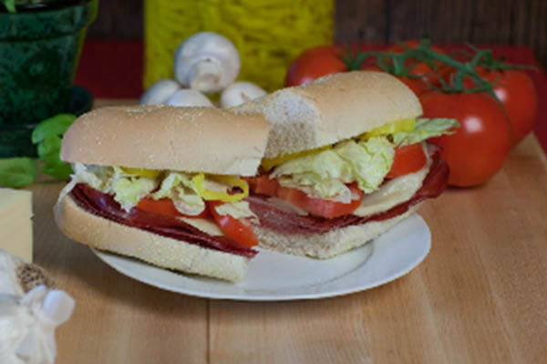 Ange's Pizza fresh hot sub sandwiches.