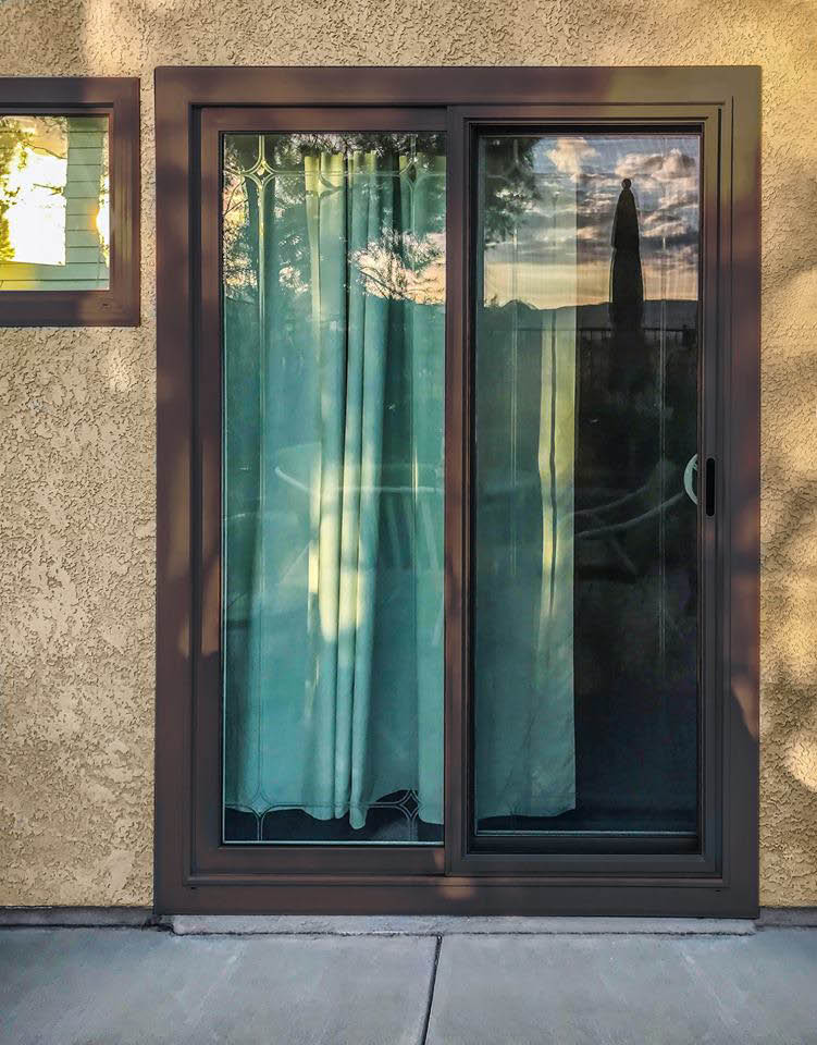 Sliding glass door, exterior