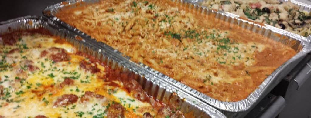 catering, penne vodka, lasagna, italian, party