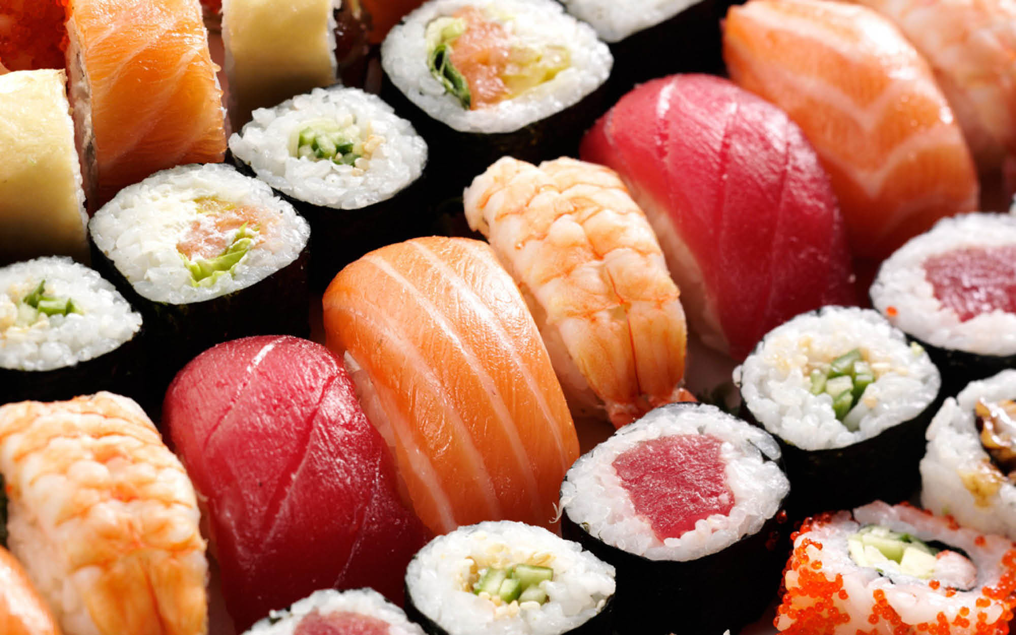 Antioch Sushi & Seafood Buffet offers a variety of sushi rolls and sashimi