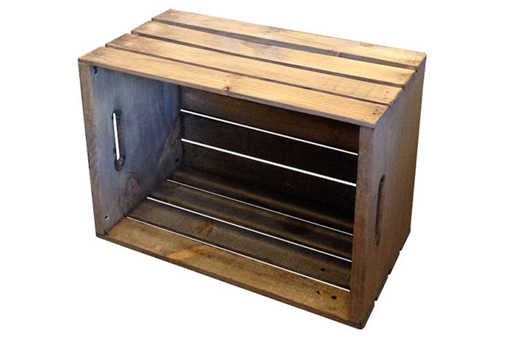 Pistol Pete's Antique Rustic Crate home decor and storage.