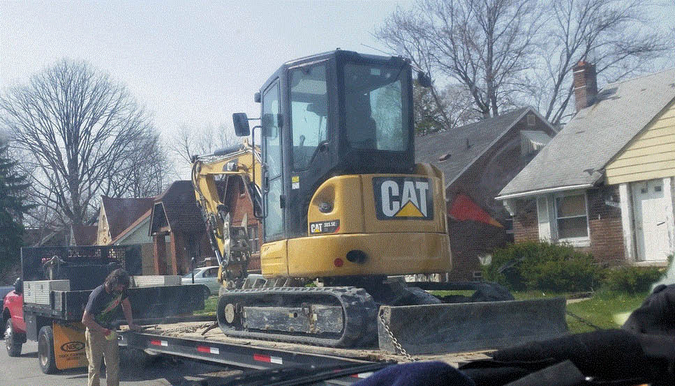 Heavy machinery used by Any Moment Plumbing in Lincoln Park, MI