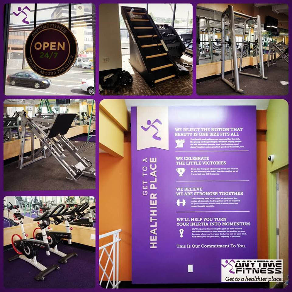 interior gym images featuring weights; workout equipment; mission statement in Honolulu, HI