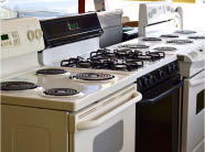 used, stove, oven, range, fridge, refrigerator, dishwasher, washer, drying, washing machine, clothes dryer