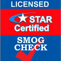 Look for the familiar Star Certified Smog Check logo
