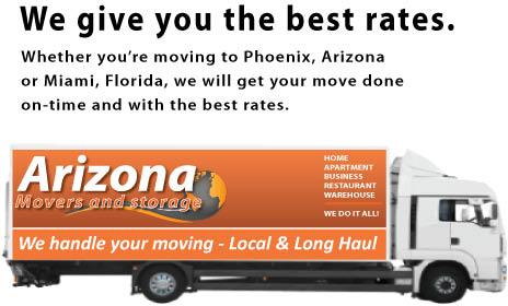 Arizona Movers & Storage, AZ, furniture, moving truck