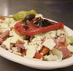Cold crisp Italian antipasto salad from Armand's in La Grange