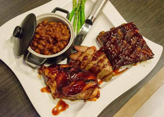 Asado Urban Grill Certified Angus Beef Barbeque Plate.