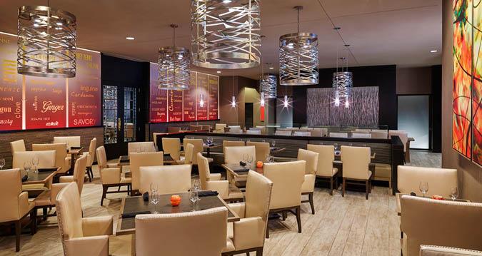 The  Dining Room at Asado Urban Grill at The Hilton near the Kansas City International Airport