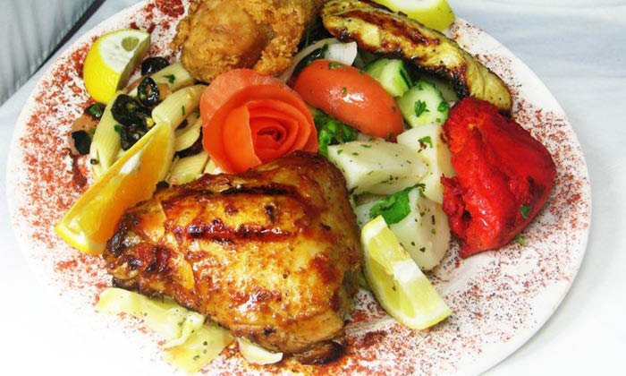 Pile your plate with Mediterranean Kitchen foods in Sugar Land