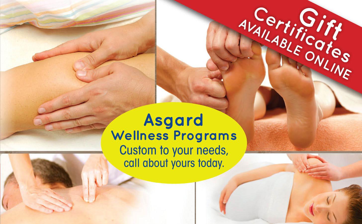 Asgard Massage offers Wellness Plans