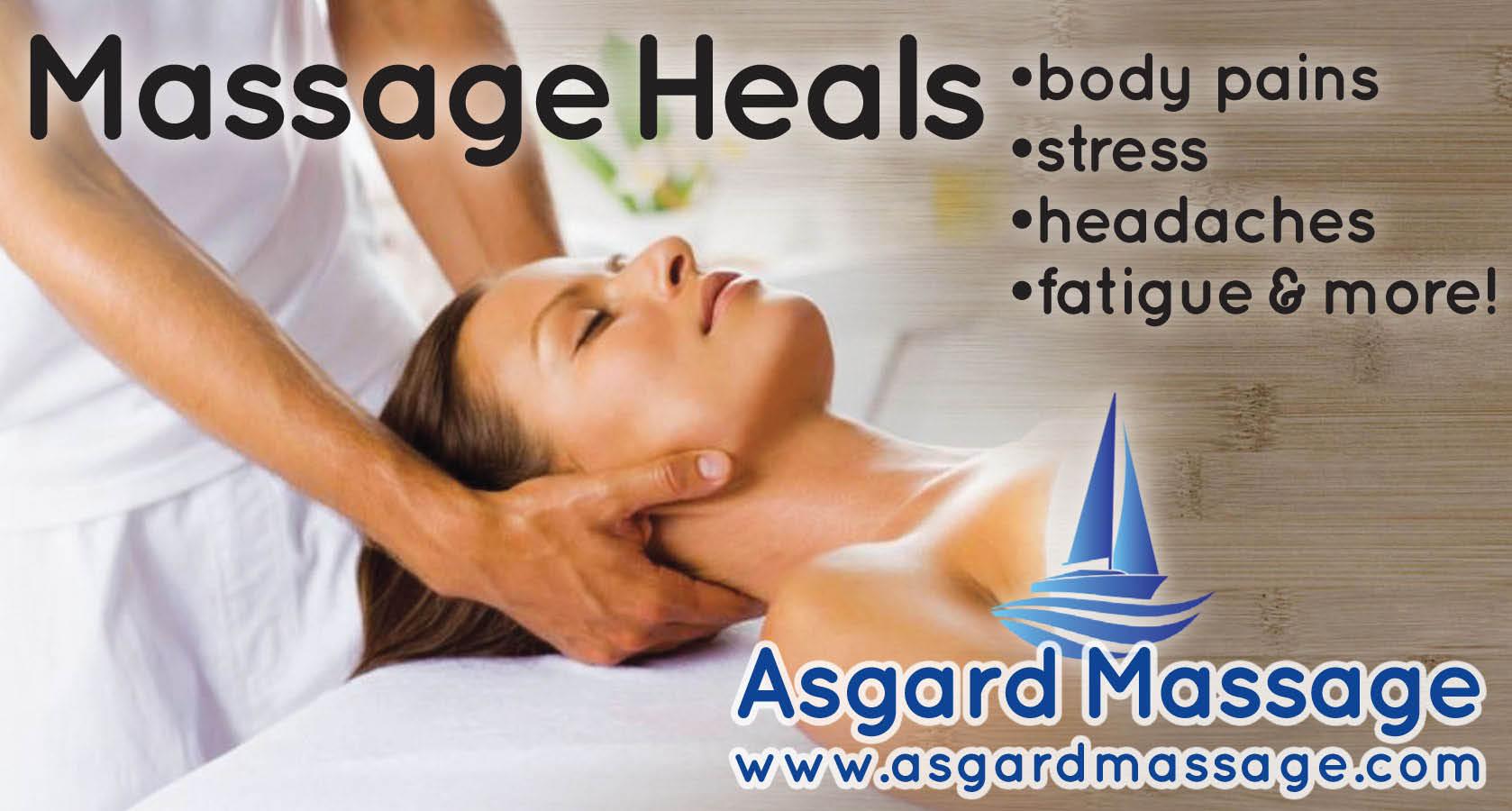 Asgard Massage Heals body pain, stress, headaches, fatigue and more