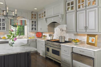 Gorgeous granite countertops are a classy addition to any kitchen.