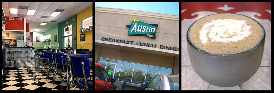 austin diner header, banner, restaurant, eatery, grill,, lunch, dinner, food, breakfast, menu