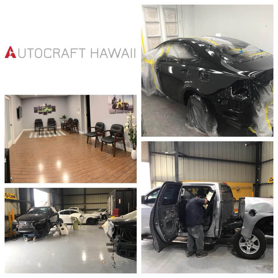 Our new, auto body shop at AutoCraft Hawaii in Kapolei