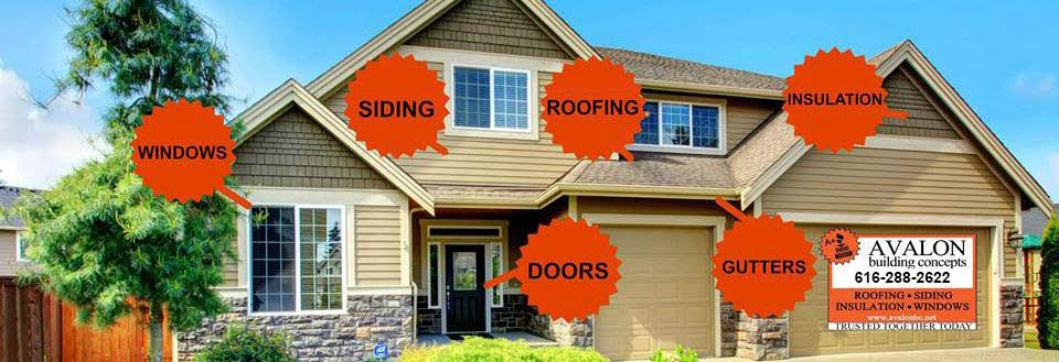 windows doors siding roofing insulation gutters
