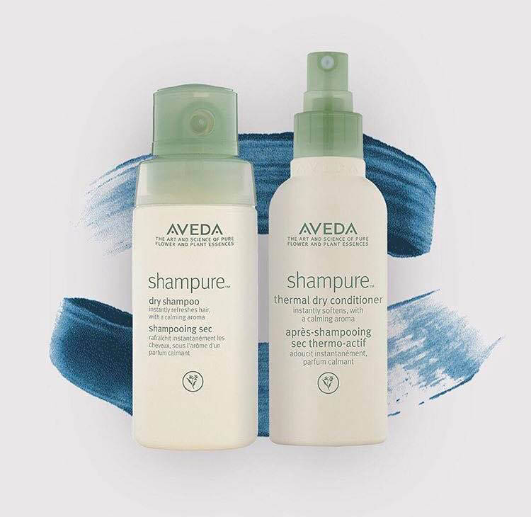 Aveda shampure dry shampoo & thermal dry conditioner